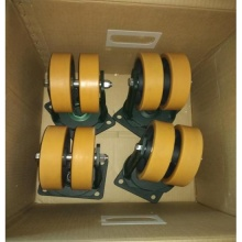 优质万向轮意大利Tellure rota 聚氨酯轮重载型双轮万向轮