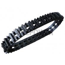 THG-85特种橡胶履带可以在较窄的区域限制内使用也可以在雪地泥泞地里行走